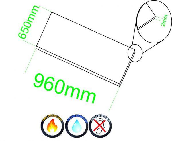 Samolepící korek desky 2mm