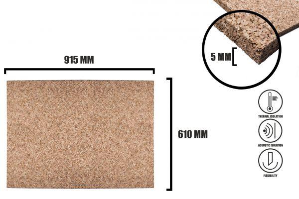 Korková deska 5mm