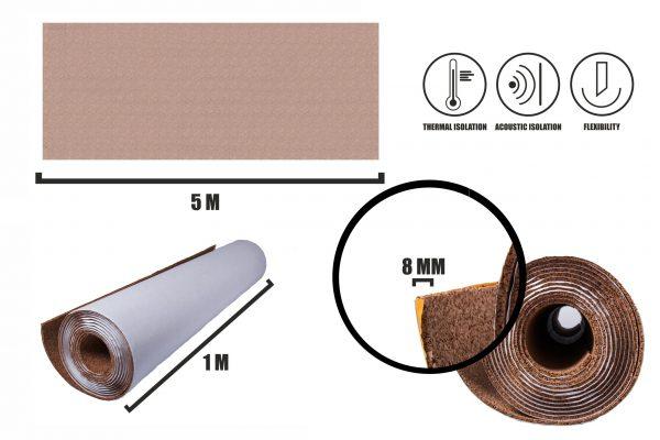 Samolepící korek role 8mm (5m)